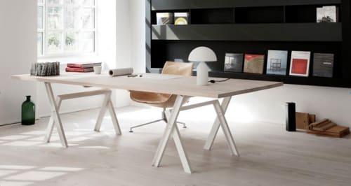 Tables by Søren Ulrik Petersen seen at MA/U Studio, Frederiksberg - Never Ending Table