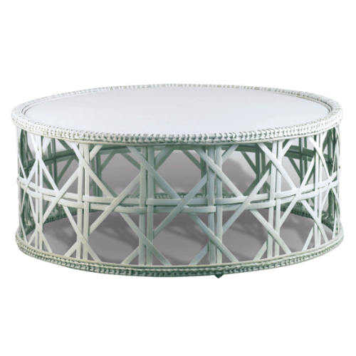 Tables by Walters Wicker seen at The Beverly Hills Hotel, Beverly Hills - Pantalla Coffee Table Indoor (Cabana)