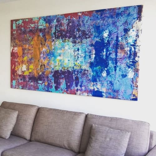 Paintings by Andrew Cotton Art 100% COTTON seen at Majorca - Abstract Painting