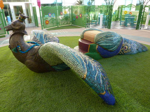Sculptures by Kim Emerson Mosaics seen at Rady Children's Hospital - San Diego, San Diego - Marisa The Magical Bird