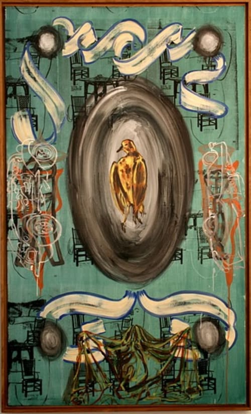 Paintings by David Salle seen at Gramercy Park Hotel, New York - Lively Iris