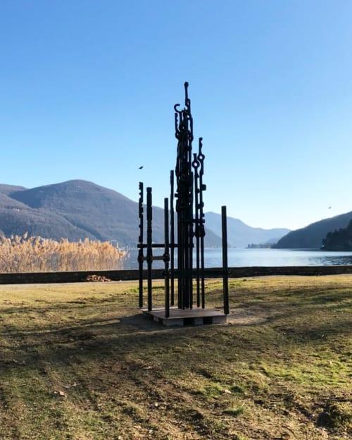 Sculptures by Conrad Hicks seen at Lake Lugano - Fibonacci