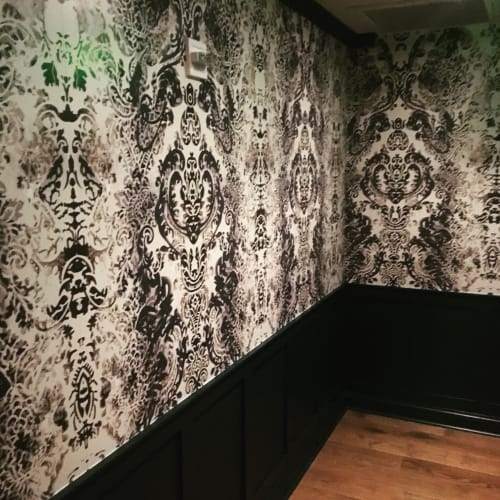 Wallpaper by Aaron Pexa seen at Farmers & Distillers, Washington - The Lucent Parlor: Damask Wallpaper