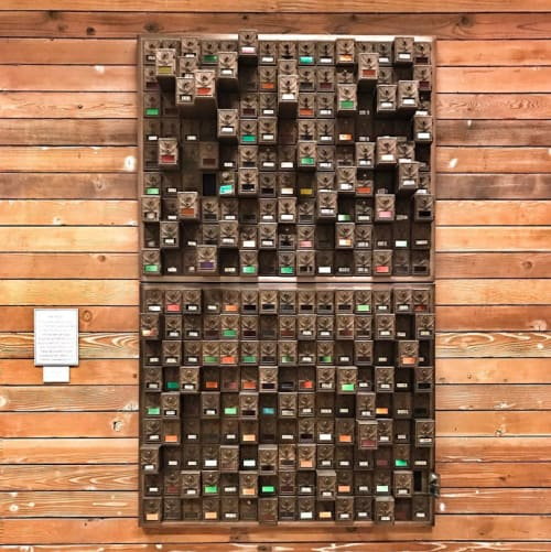 Sculptures by Chris Edmunds seen at Twitter HQ, San Francisco - Old Letterbox Sculpture