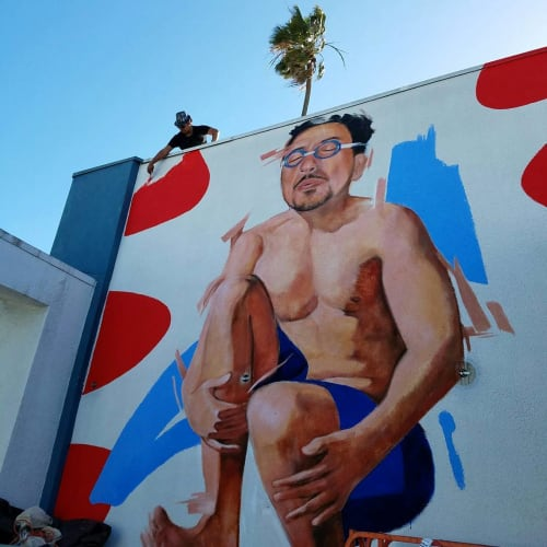 Murals by Robert Vargas at The Kinney Venice Beach, Los Angeles - Why Not Cannonball?