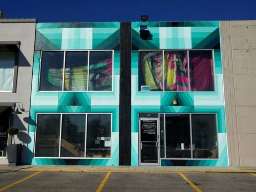 Murals by Dalek seen at Harvester Arts, Wichita - Facade