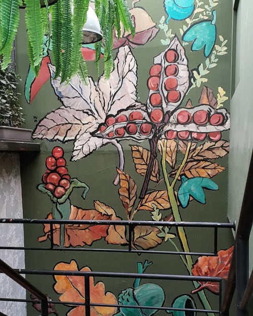 Murals by WA - Franco Domenak seen at La Gintoneria Lima, Cercado de Lima - Botanical Painting