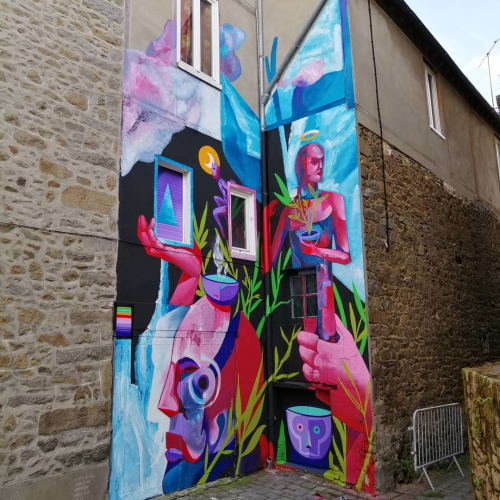 Street Murals by WESR | Danny Figueroa seen at Saint-Brieuc, Saint-Brieuc - Mural