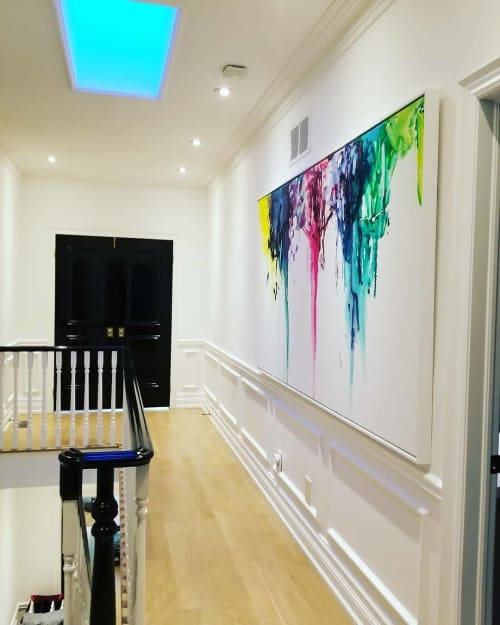 Paintings by Peter Triantos seen at Private Residence, Toronto - Splash of Colour #35