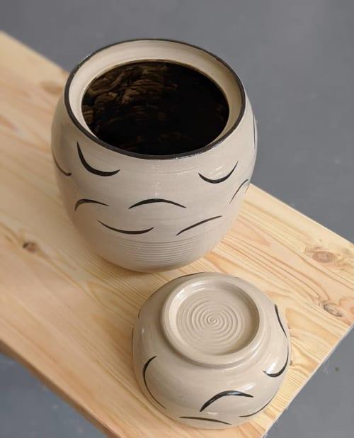 Tableware by Ceramicsbytiz seen at Private Residence, Tallinn - Ceramic Cookie Jar