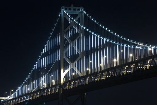 Lighting by Leo Villareal seen at San Francisco – Oakland Bay Bridge, San Francisco - The Bay Lights