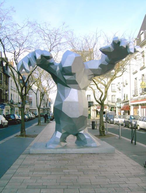 Public Sculptures by Xavier Veilhan seen at Tours, France, Tours - Le Monster