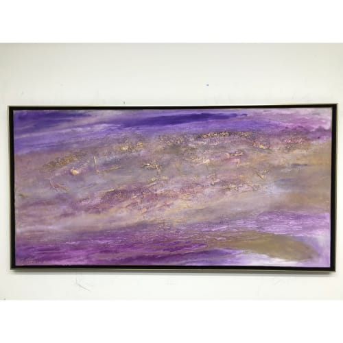 Paintings by Gorica Jeremic seen at Private Residence, Vienna - Amethyst Abstract Painting