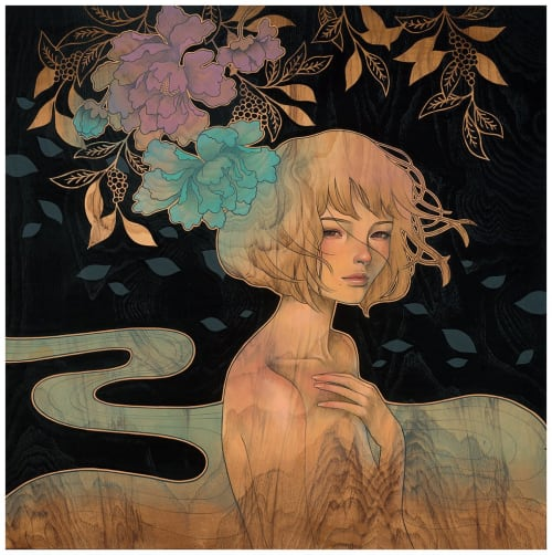 Paintings by Audrey Kawasaki seen at Merry Karnowsky Gallery, Los Angeles - It Was You