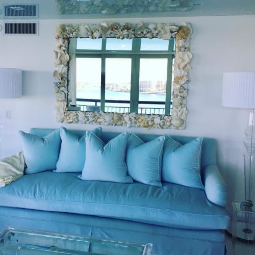 Wall Hangings by Christa Wilm seen at Private Residence, Boca Raton - Shell Mirror
