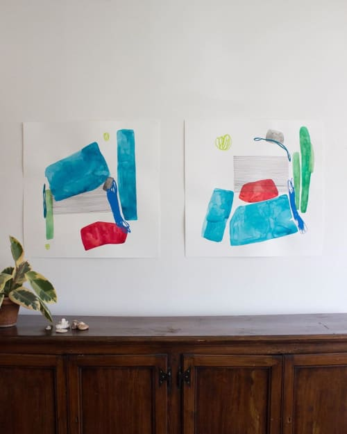 Paintings by Allie Kushnir seen at Private Residence, Chicago - Paintings