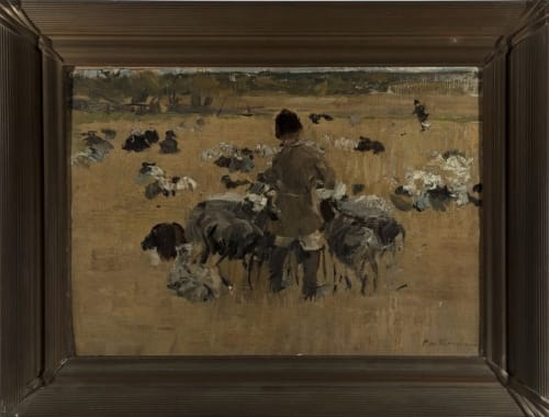 Paintings by Mikhail Filippovich Ivanov seen at Mills College Art Museum, Oakland - Goat Herd