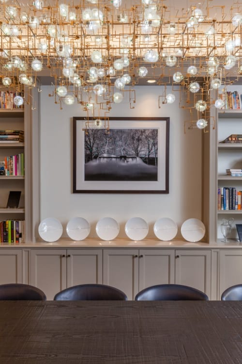 Chandeliers by Studio Drift at Williamson Residence, Williamson - Fragile Future