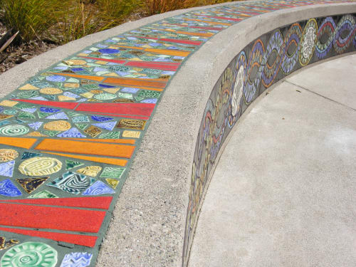 Street Murals by Colette Crutcher seen at Cesar Chavez Park, Oakland, Oakland - Cesar Chavez Park