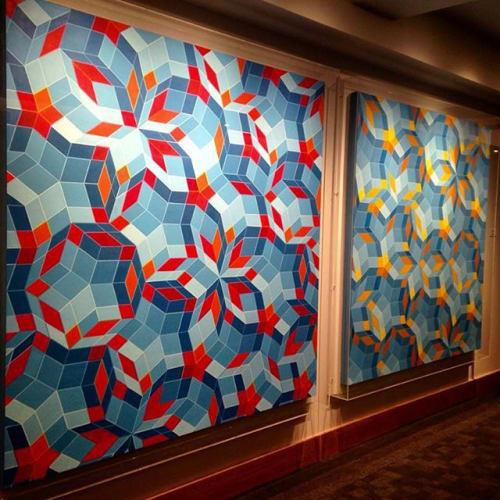 Paintings by Clark Richert seen at The ART, a Hotel, Denver - Phi Tesserae