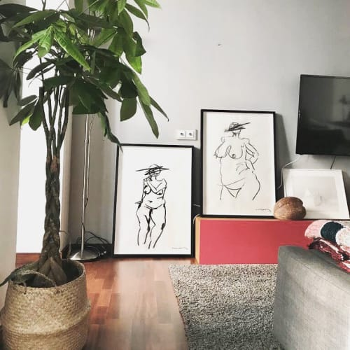 Paintings by Paul Anton and Bea Aiguabella seen at Private Residence, Barcelona - Life drawing