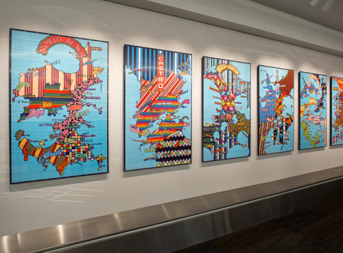 Art & Wall Decor by Lordy Rodriguez seen at San Francisco International Airport, San Francisco - Strangerhood