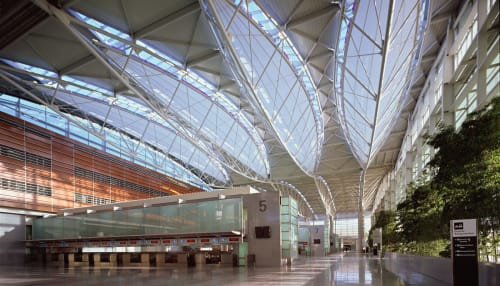 San Francisco International Airport, Public Service Centers, Interior Design