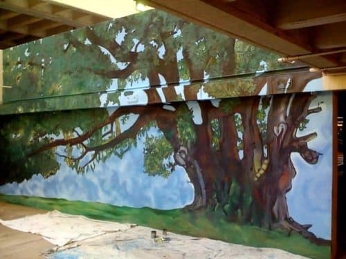 """Murals by John Votel seen at Suddath, Jacksonville - """"Treaty Oak"""""""