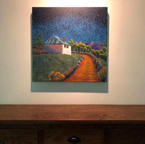 Paintings by Jennifer Cavan seen at Private Residence, Glen Ellyn - Starry Scene Painting