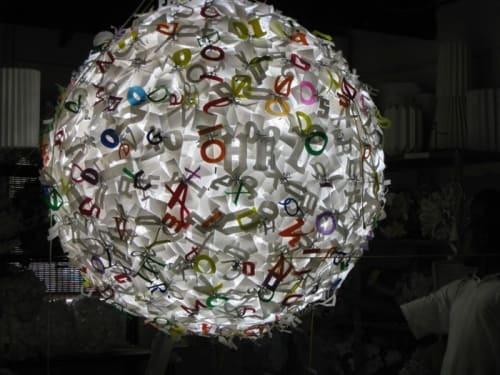 Lamps by Heath Nash seen at Juta and Company Ltd, Sandton - Juta letterball