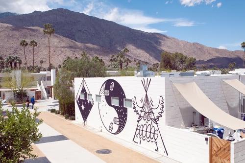 Murals by Steven Harrington seen at Ace Hotel & Swim Club, Palm Springs - Wall Graffiti