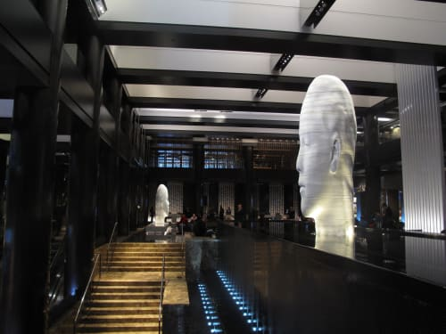 Sculptures by Jaume Plensa seen at Grand Hyatt New York, New York - Awilda and Chloe, 2011