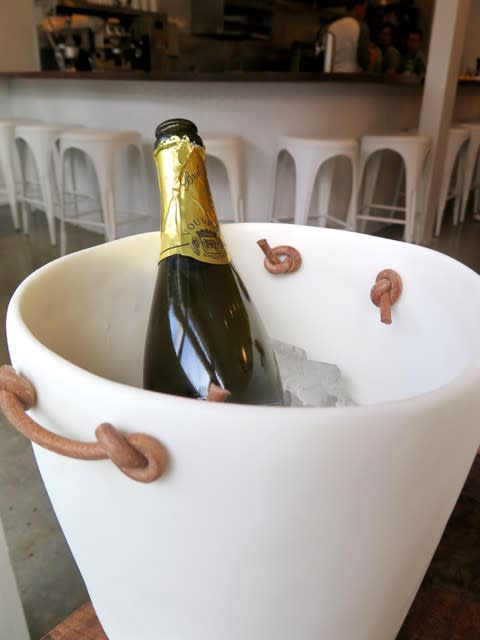 Tableware by Tina Frey seen at Petit Crenn, San Francisco - Champagne Bucket