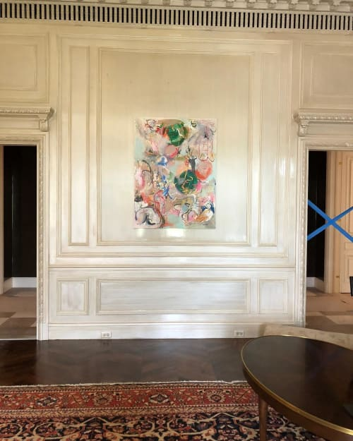 Paintings by Julie Shunick Brown seen at Private Residence, Fort Worth - Abstract Paintings