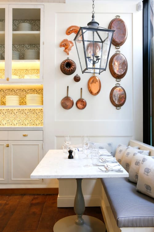 Lighting by Hector Finch seen at La Pecora Bianca, New York - Hanging Lantern