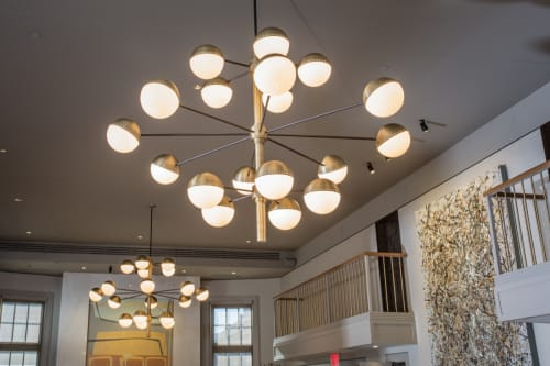 Pendants by ILEX Architectural Lighting at Parsnip Restaurant & Lounge, Cambridge - Custom Pendant Lighting