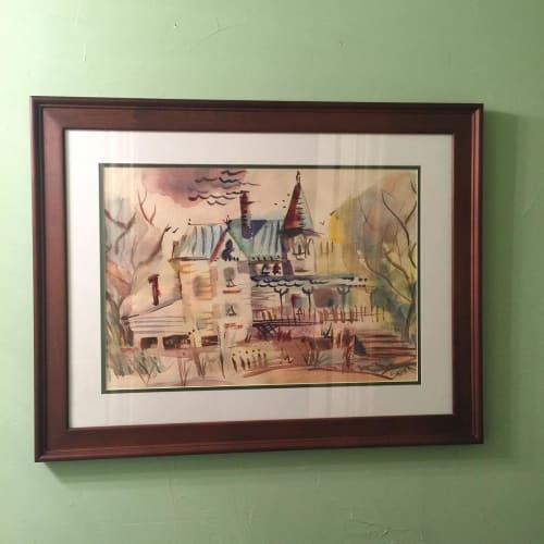 Paintings by Julie Shunick Brown seen at Rosson House Museum at Heritage Square, Phoenix - Watercolor Painting
