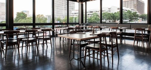 Chairs by Chris Earl at Otium, Los Angeles - Sable Dining Chair