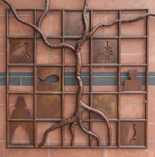 Tree of Knowledge | Sculptures by Eric Powell | Castro Valley Library in Castro Valley