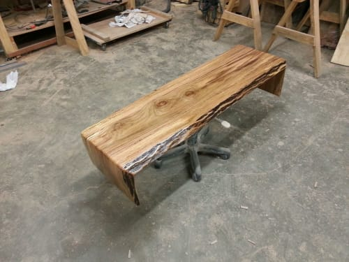 Tables by City Wood seen at Wolf River Conservancy, Memphis - Sofa table