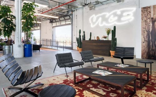 Furniture by Uhuru Design seen at VICE Media LLC, Brooklyn - Chairs, Tables, Workplace Install