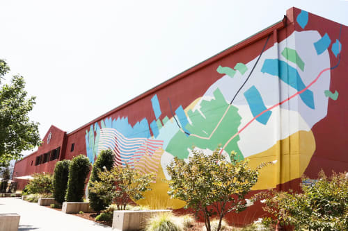 Street Murals by Heather Day at Provenance Vineyards, Saint Helena - Provenance Vineyards