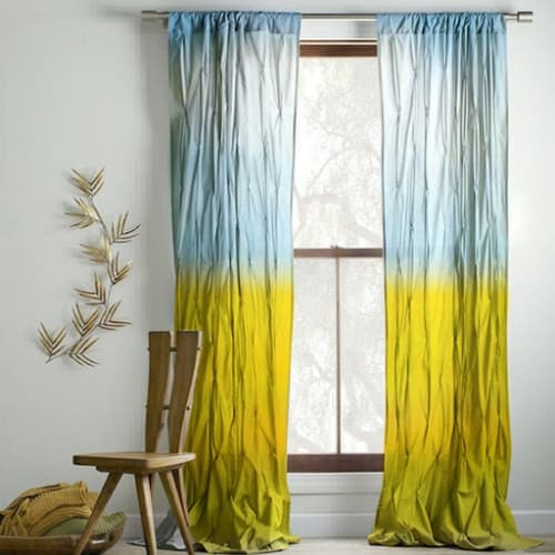 Curtains & Drapes by Artist Cheryl Maeder seen at Portland, Oregon Private Residence, Portland - Bohemian Chic, Everglades I, Drapes