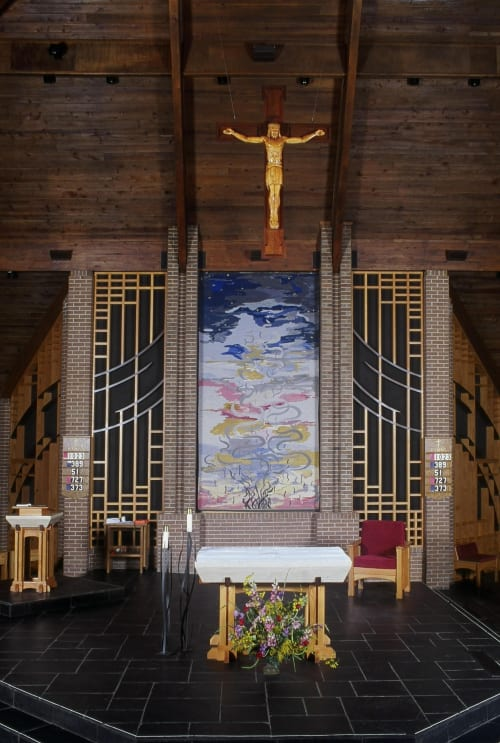 Wall Hangings by Ulrika Leander at Our Lady of the Holy Souls Catholic Church, Little Rock - Evensong