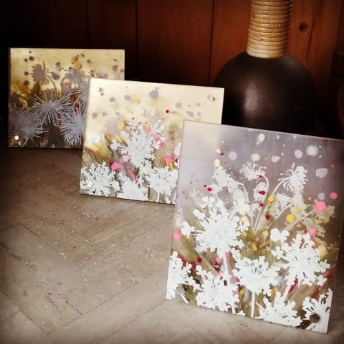 Paintings by Cara Enteles Studio seen at Creator's Studio, New York - Small Floral Paintings