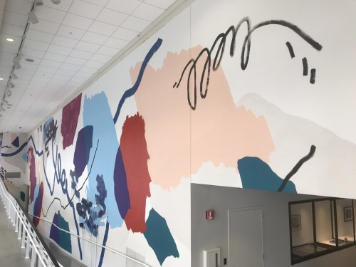 Murals by Heather Day seen at Urban Institute for Contemporary Arts (UICA), Grand Rapids - Ultra Violet Mural