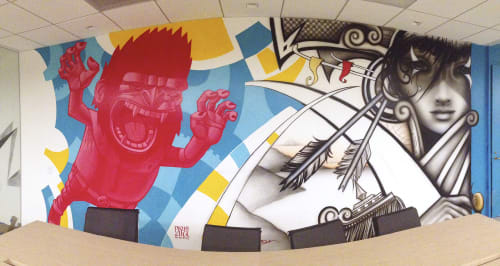 Murals by Hans Haveron seen at The Tower Burbank, Burbank - Mural