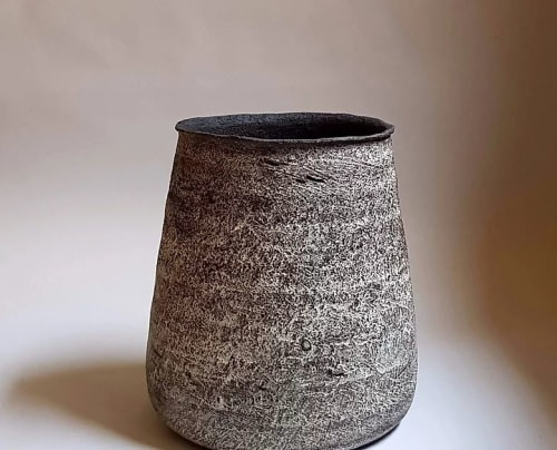 Vases & Vessels by Elena Vasilantonaki seen at Private Residence, Athens - Pithos Black Stoneware