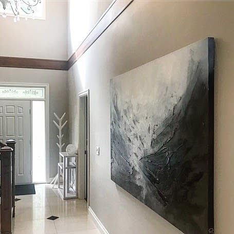 Paintings by Donna Giraud seen at Private Residence, Vancouver - Jonsa