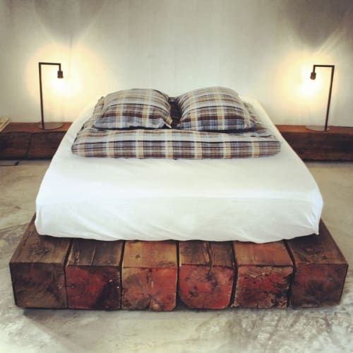 Beds & Accessories by Stu Waddell seen at Drift San Jose, San José del Cabo - Reclaimed Wood Bed Pad